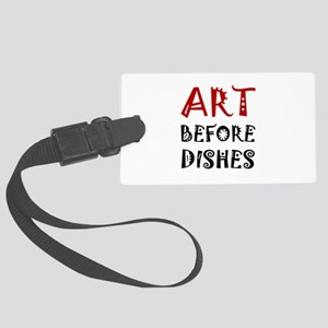 Art Before Dishes Luggage Tag