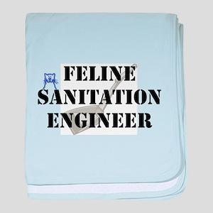Feline Sanitation Engineer Infant Blanket