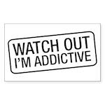 I'm Addictive Sticker (Rectangle)