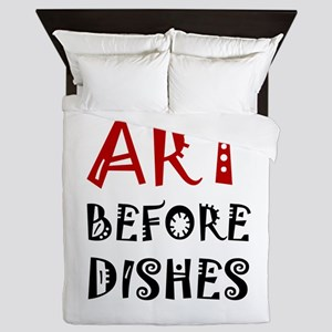 Art Before Dishes Queen Duvet