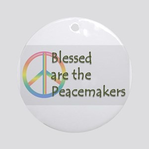 Blessed are the Peacemakers Ornament (Round)