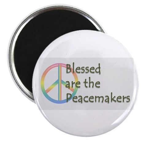"""Blessed are the Peacemakers 2.25"""" Magnet (10 pack)"""
