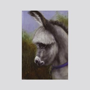 Donkey Foal Painting Horse Lover Rectangle Magnet
