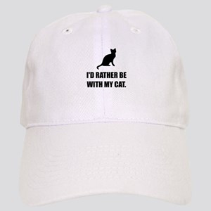 Rather Be With My Cat Baseball Cap