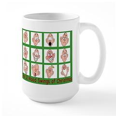 12 mood swings of Christmas Large Mug