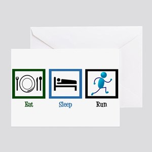 Eat Sleep Run Greeting Card