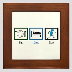 Eat Sleep Run Framed Tile