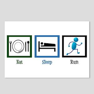 Eat Sleep Run Postcards (Package of 8)