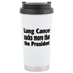 Lung Cancer Stainless Steel Travel Mug