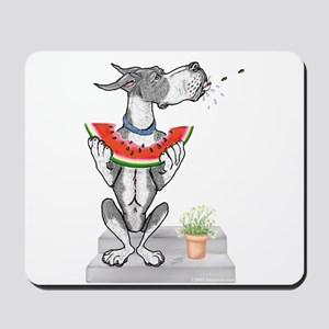Great Dane Spit! Melon MANTLE Mousepad
