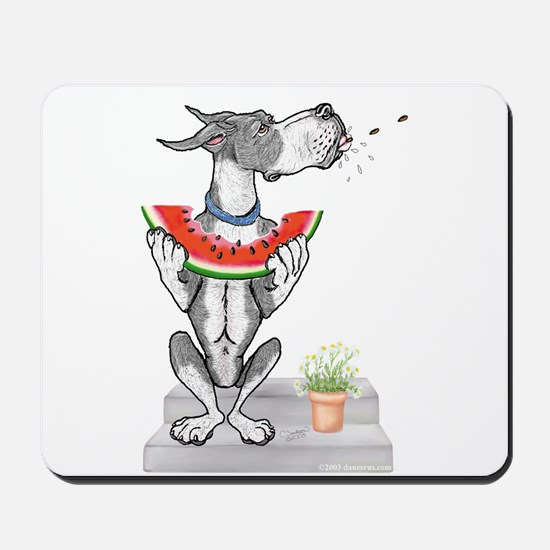 Great Dane Spit! Melon MANTLE Mousepad