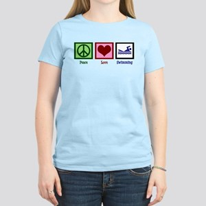 Peace Love Swimming Women's Light T-Shirt