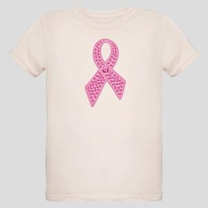 Pink Ribbon Jewels Organic Kids T-Shirt