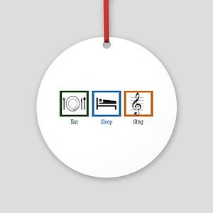 Eat Sleep Sing Ornament (Round)