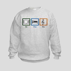 Eat Sleep Sing Kids Sweatshirt