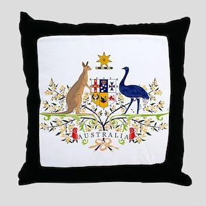 Australian Coat of Arms Throw Pillow