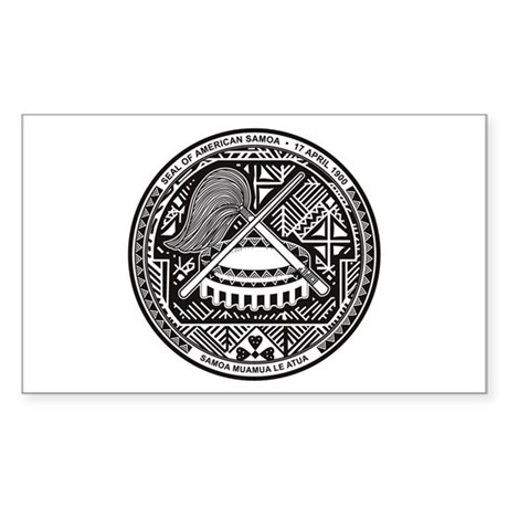 American Samoa Coat of Arms Rectangle Sticker