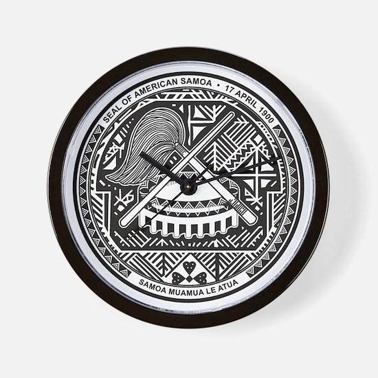 American Samoa Coat of Arms Wall Clock