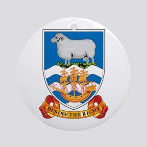 Falkland Islands Coat of Arms Ornament (Round)
