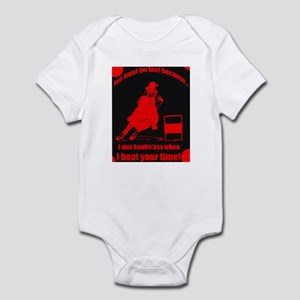 haulin ass barrel racer Infant Bodysuit