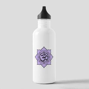 Purple Om Lotus Blossom Stainless Water Bottle 1.0