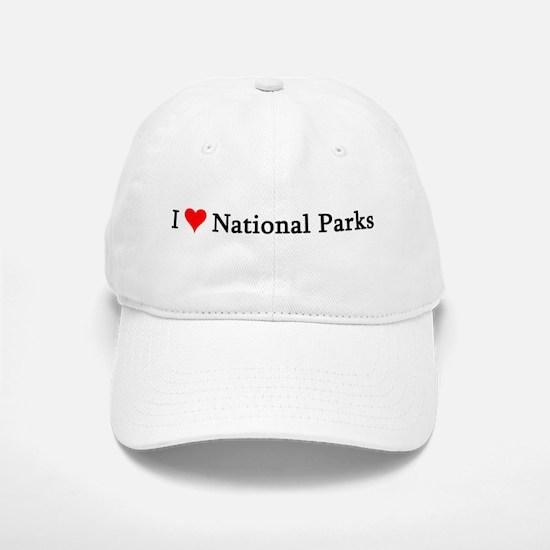 I Love National Parks Baseball Baseball Cap