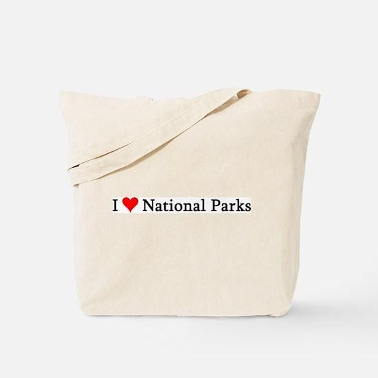 I Love National Parks Tote Bag