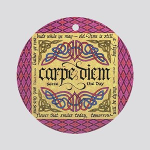 Carpe Diem Ornament (Round)