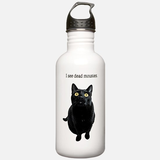 I See Dead Mousies Water Bottle