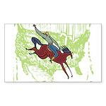 American Cowboy Rectangle Sticker
