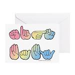 Pastel SIGN BABY SQ Greeting Card