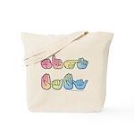 Pastel SIGN BABY SQ Tote Bag