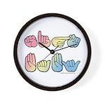 Pastel SIGN BABY SQ Wall Clock