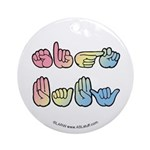Pastel SIGN BABY SQ Ornament (Round)