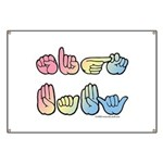 Pastel SIGN BABY SQ Banner
