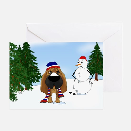 Bloodhound Holiday Greeting Card