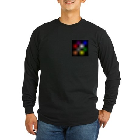 Chromatic Cube Long Sleeve Dark T-Shirt