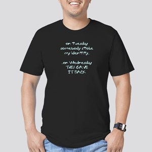 identity theft Men's Fitted T-Shirt (dark)