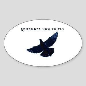 Pigeons Sticker (Oval)