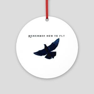Pigeons Ornament (Round)