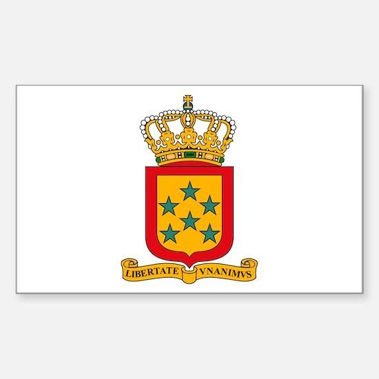 Netherland Antilles Coat of A Sticker (Rectangular