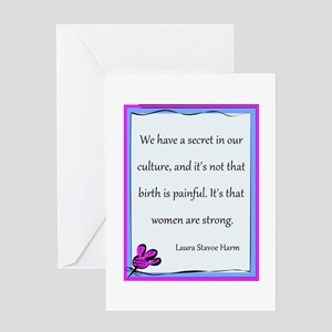 Women Are Strong 3 Greeting Card
