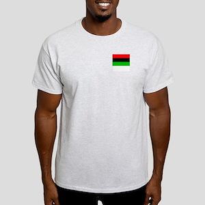 African American Flag 3 Ash Grey T-Shirt