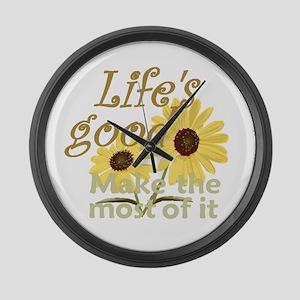 Life''s Good Large Wall Clock