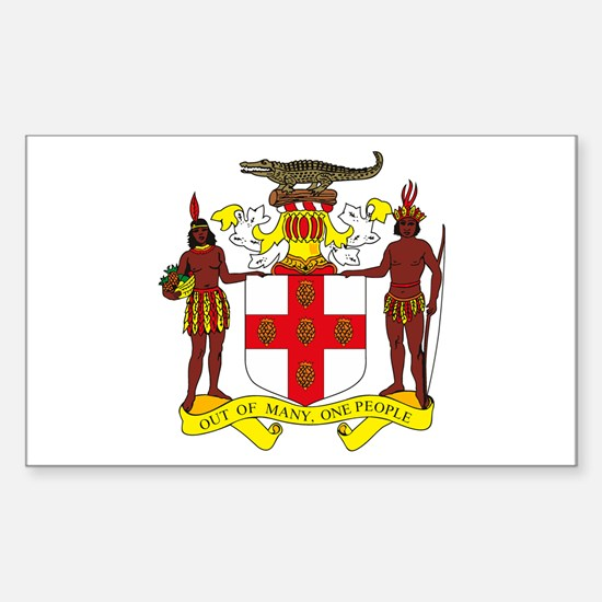 Jamaican Coat of Arms Rectangle Decal