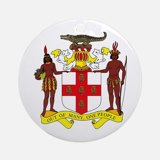 Jamaican Coat of Arms Ornament (Round)