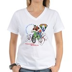 WoofDriver's Training Wheels Women's V-Neck T-Shir