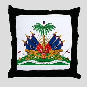 Haiti Coat of Arms Throw Pillow