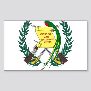 Guatemalan Coat of Arms Rectangle Sticker