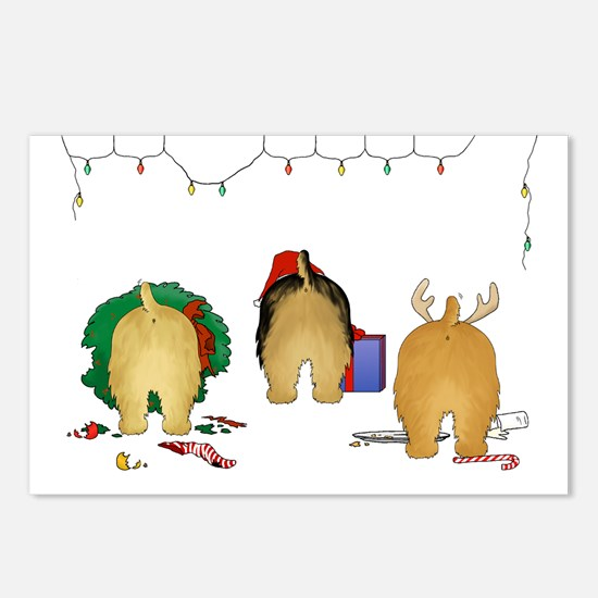 Norfolk Terrier Christmas Postcards (Package of 8)